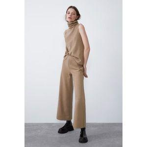 Zara Soft Feel High Collar Top and Pants set SMALL